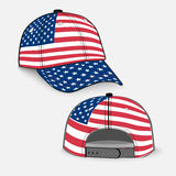 Baseball cap with USA flag Stock Photos