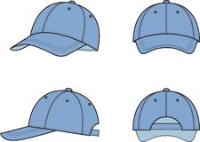 Baseball cap. Vector illustration of baseball cap from different views Stock Images