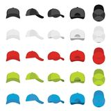 Baseball cap views icons set, simple style. Baseball cap views icons set. Simple illustration of 25 baseball cap views vector icons for web Royalty Free Stock Image