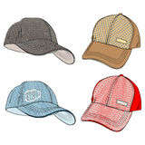 Baseball Caps Stock Photography