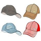 Baseball Caps stock illustration