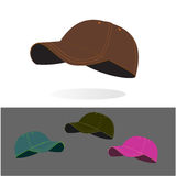 Baseball caps collection. With color variations royalty free illustration