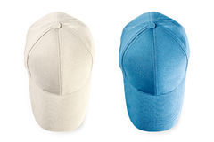 Baseball caps isolated Royalty Free Stock Images