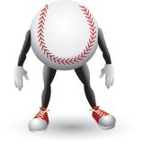 Baseball cartoon man. Picture of a baseball cartoon character Stock Photo