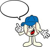 Baseball Cartoon Mascot Talking Royalty Free Stock Image