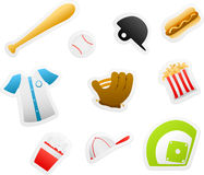 Baseball cartoons Royalty Free Stock Photography