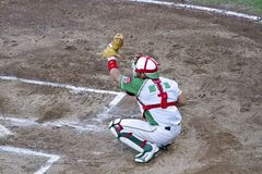 Baseball catcher Stock Image
