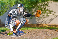 Baseball Catcher. Made from steel rods and plates royalty free stock images
