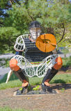 Baseball Catcher. Made from steel rods and plates royalty free stock photo