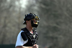 Baseball - catcher. Baseball catcher photographed during game Royalty Free Stock Photos