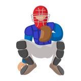 Baseball catcher cartoon icon Royalty Free Stock Photography