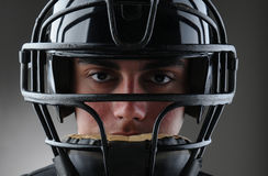 Baseball Catcher Closeup Stock Images