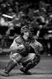 Baseball Catcher With Glove And Baseball. Stock Photos