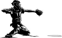 Baseball Catcher at Home Plate Royalty Free Stock Photography