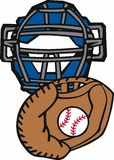 Baseball Catcher Mask Glove Royalty Free Stock Images