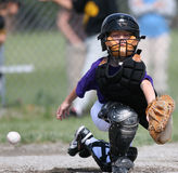 Baseball catcher missing ball Stock Photos