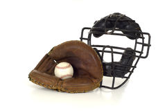 Baseball Catcher's Gear Royalty Free Stock Photo