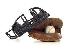 Baseball Catcher's Gear Royalty Free Stock Photography