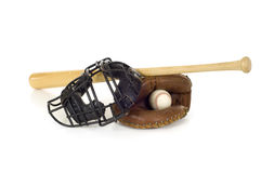 Baseball Catcher's Gear Royalty Free Stock Images