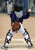 Baseball catcher throwing ball Stock Photos