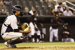 Free Baseball Catcher With Glove - Room For Copy Royalty Free Stock Images - 20905969