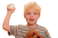 baseball chłopiec Obraz Royalty Free