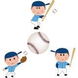 Baseball chłopiec Zdjęcia Royalty Free