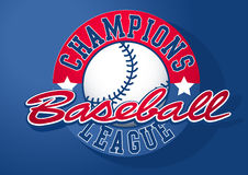 Baseball Champions league with ball Stock Images