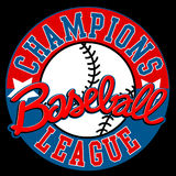 Baseball Champions league sign with ball.  Stock Photo