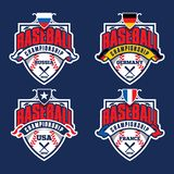 Baseball championship badge logo design template. And some elements for logos, badge, banner, emblem, label, insignia, T-shirt screen and printing. Baseball Vector Illustration