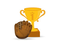 Baseball. Championship cup icon vector illustration graphic design Royalty Free Stock Photography