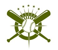 Baseball championship icon or emblem Royalty Free Stock Photo