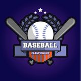 Baseball Championship Logo. A logo for baseball championship used or team Royalty Free Stock Photos