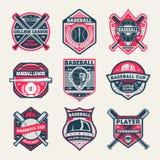 Baseball championship vintage isolated label set royalty free stock images