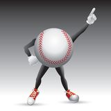 Baseball character striking a pose Royalty Free Stock Images