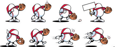 Baseball Characters Stock Photo