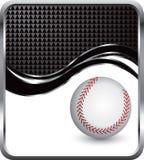 Baseball on checkered wave background Stock Image