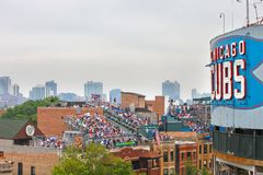 baseball chicago Royaltyfri Bild