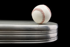 Baseball on Chrome Table Stock Images