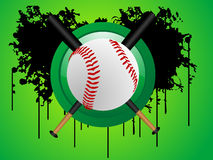 Baseball on circle Royalty Free Stock Photography