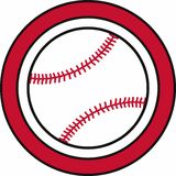 Baseball Circle Logo Stock Photography