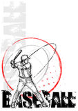 Baseball circle poster background Royalty Free Stock Image