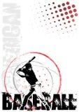 Baseball circle poster background 2 vector illustration