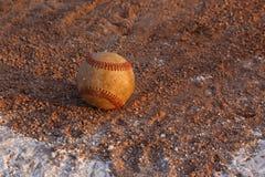 Baseball in the Clay Stock Photos
