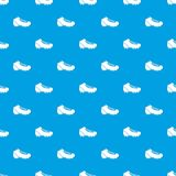 Baseball cleat pattern seamless blue. Baseball cleat pattern repeat seamless in blue color for any design. Vector geometric illustration Stock Image