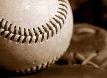 Baseball closeup Royalty Free Stock Image