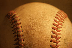 Baseball closeup showing stitches and seams Royalty Free Stock Images