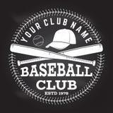 Baseball club badge. Vector illustration. Concept for shirt or logo, print, stamp or tee. stock illustration