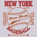 Baseball Club NY royalty free illustration