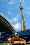 BASEBALL,CN TOWER  Royalty Free Stock Photos